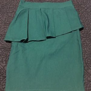 Charlotte Russe ruffle pencil skirt